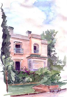 Catherine Rossi (née en 1957) « Alger, Balcon Saint-Raphaël, une villa » 2011