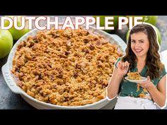 Apple Pie Recipe Video, Apple Recipes Easy, Dutch Recipes, Pie Crumbs Recipe, Pie Dough Recipe, Apple Crisp Pie, Apple Crumble Recipe, Apple Pizza, Apple Desserts