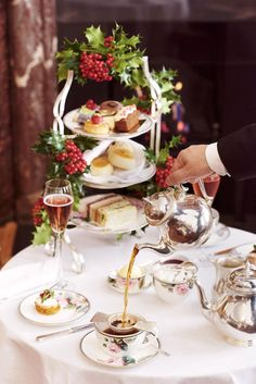 A classic Christmas afternoon tea at the Brown's Hotel