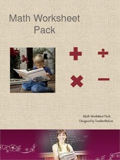 A Free 22 page math worksheet pack:Addition sums 0-10, 0 -20, 0-30, 0-50Subtraction sums 0-10, 0-20, 0-35, 0-50Multiplication - all times tables