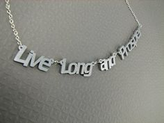 Live long and prosper necklace.