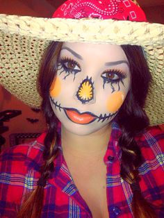 My scarecrow makeup ;) #theeupdogirl