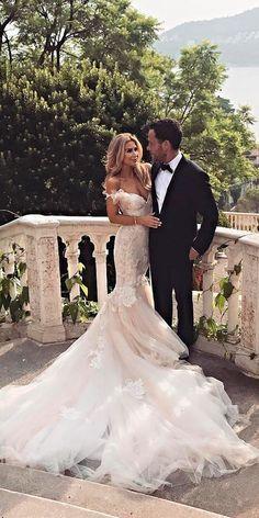 30 Romantic Off The Shoulder Wedding Dresses ❤ mermaid off the shoulder wedding dresses lace rustic galia lahav ❤ See more: http://www.weddingforward.com/off-the-shoulder-wedding-dresses/ #wedding #bride