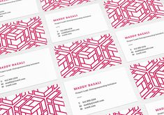 Geometric business card design #design #businesscards #pink #perspective #cube #geometric #entrepreneurship