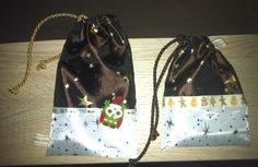 Weihnachtssäckchen mit Kordelband