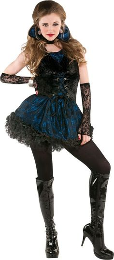 Teen Girls Midnight Vampire Costume - Party City
