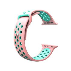 For Apple Watch Band, Wearlizer Soft Silicone Sport Replacement Strap for both Series 1 and Series 2 - Pink and Green *** Check this awesome product by going to the link at the image. Used Watches, Watches For Men, Cute Apple Watch Bands, Apple Watch Fashion, Wearable Technology, Apple Products, Vintage Watches, Fashion Watches, Rolex