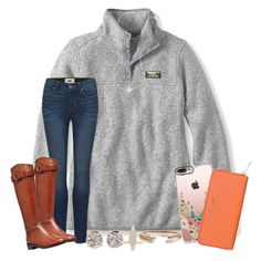 """""""fri-YAY! 2•3•17"""" by wiinter-blue ❤ liked on Polyvore featuring Patagonia, L.L.Bean, Paige Denim, Tory Burch, Kendra Scott, Casetify, Michael Kors and Melissa Joy Manning"""