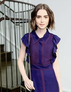 Lily Collins photographed by  Angela Pham  at Burberry Celebrates its Newest Collections at the Burberry SoHo Store