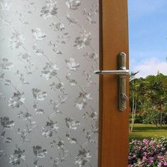 Privacy Cling Window Tint Film Frosted Home/Bathroom Stained Glass Sticker DIY  #Budgettank #Modern