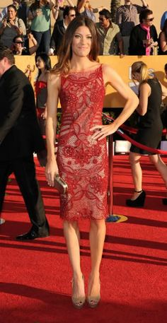 Jennifer Carpenter 2012 SAG Awards #celebrities #celebrityfashion #redcarpet