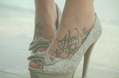 """I'd love to get """"Too many fantasies to be a housewife"""" tattooed onto my two feet."""