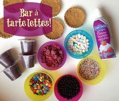 Un bar à tartelettes pour vous simplifier la vie et faire plaisir aux enfants!