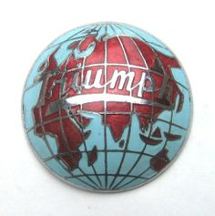 Triumph Car Badge - 1946/1948 1800/2000 Triumph Roadster, fitted to both the grille and to each hubcap. Also fitted to the Triumph Renown and Mayflower of this period.  There are some painted ones about but this one is correct being enamelled. Probably made by Ming Ware, Birmingham.