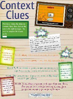 CONTEXT CLUES~  Interactive lesson about context clues from Glogster.
