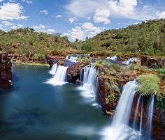 australia travel Tips Products is part of The Ultimate Backpacking Australia Travel Guide For - Melaluka Lower Falls The Kimberley, Western Australia westernaustraliatravel Outback Australia, Perth Australia, Western Australia, Australia Travel Guide, Billabong, Photos Voyages, Beautiful Waterfalls, Countries Of The World, Dream Vacations