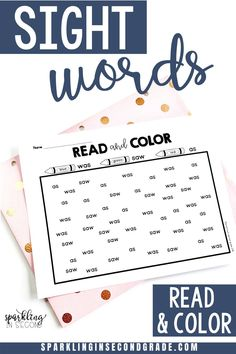 First grade sight word activity. Confusing certain sight words? These printable color by word sheets help sort out the confusing sight words.