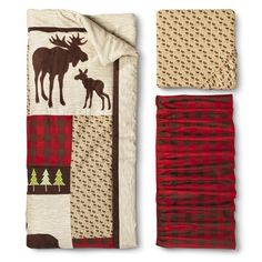 Love this!!! Northwoods 3pc Crib Bedding Set