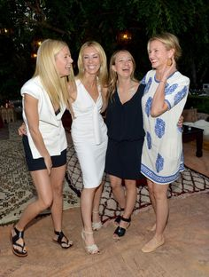 Pin for Later: May's Must-See Celebrity Moments!  Gwyneth Paltrow, Vicky Vlachonis, Jennifer Meyer, and Cameron Diaz shared a big laugh at a Goop party in LA.