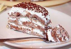 Cake Nesquik (in romanian) Rodjendanske Torte, Kolaci I Torte, Tiramisu, Deserts, Good Food, Dessert Recipes, Food And Drink, Pudding, Cooking Recipes