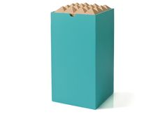 Store treasures in the Pyramid Large Box Turquoise by Korridor.
