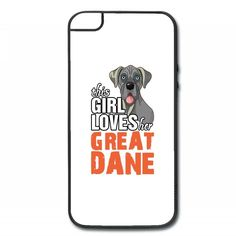 this girl loves her great dane iPhone 5/5s Hard Case