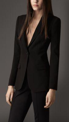 Tailored Crêpe Jersey Jacket