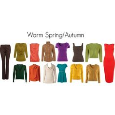 "warm autumn coloring | Warm Spring/Autumn Colors"" by katestevens on ... 