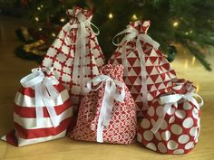 Make Your Own Reusable Christmas Wrap | Sewing projects | Pinterest ...