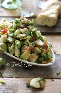 Avocado Crab Salad : Great Food Pins
