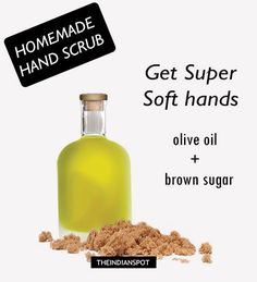 hand scrub for dry rough hands