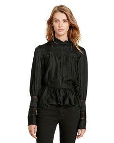 Lace-Inset Blouse - Denim & Supply  New Arrivals - RalphLauren.com