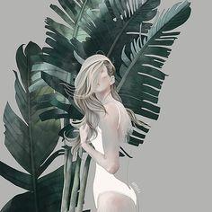 Charming #illustration by Agata Wierzbicka.#art #summer #girl…