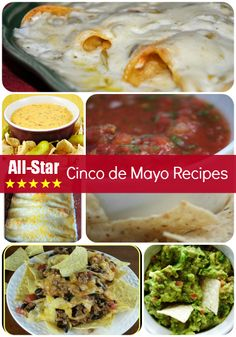 Its fiesta time and what better way to celebrate Cinco de Mayo than with all-star Mexican food. Here are some exciting recipes to spice up your menu and help you celebrate! Bakerette.com
