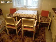 Retro konyhabútor (szekrény, asztal, 4db szék, ágy)