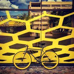 A Pure Fix Yankee against an art wall. #bike #bicycle #fixie #fixedgear #art #streetart #graffiti