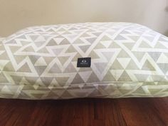 Clearance- Bohemian Triangles Dog Bed, Dog Crate Bed, Dog Pillow Bed, Puppy Bed