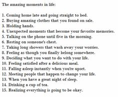 Amazing moments in life