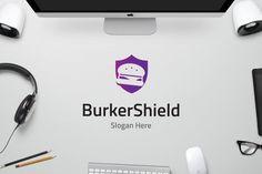 Burger Shield by on Envato Elements Business Logo Design, Logo Templates, Slogan, Cool Designs, Food, Essen, Meals, Yemek, Eten