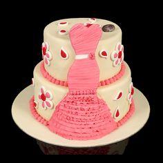 Gâteau d'anniversaire de gourmandise robe du soir