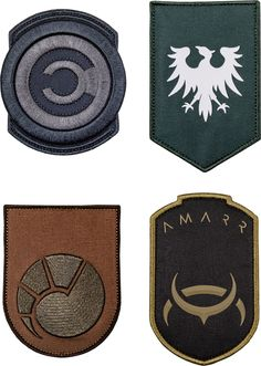 musterbrand Eve Online - Faction Badge Pack, Size ONE Eve Online Ships, Holiday Gifts, Badge, Nifty, Collections, Games, Toys, Rpg, Flags