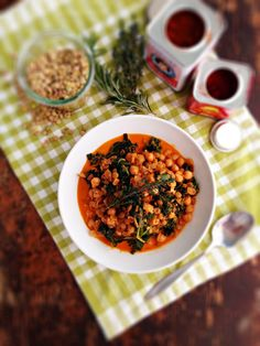 """Braised Lentils and Chickpeas with Kale & White Wine 