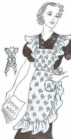 FREE apron patterns at http://sentimentalbaby.blogspot.com