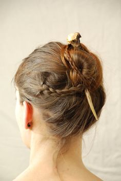 Natural hair accessory hair stick hair pin by HairAroundNature, €30.00