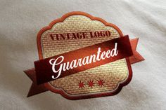 Check out Guaranteed Vintage Logo by BDThemes Ltd on Creative Market