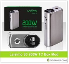 Laisimo S3 200W Box Mod – $35.99: http://www.cigbuyer.com/laisimo-s3-200w-box-mod/ #ecigs #vaping #laisimo #laisimoS3 #boxmod #vapelife #vapedeals
