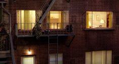 Apartment buildings. Rear Window, 1954.