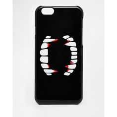 ASOS Halloween Fangs iPhone 6 Case ($10) ❤ liked on Polyvore featuring accessories, tech accessories, multi и asos