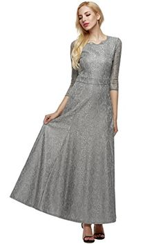 5ae49c5dad23 Seewebest Womens Vintage Sleeve Evening Formal Gown Cocktail Floral Lace Maxi  Dress -- Check out this great product. (This is an affiliate link)