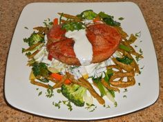 Chef JD's Comfort Cuisine: Cured Pork Loin Chop over Curry Spice Spätzle and ...